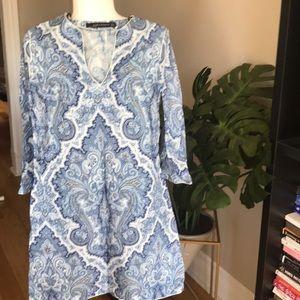 ZARA• paisley summer dress